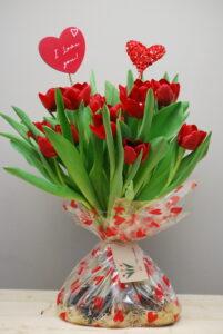 tulpen bloemen valentijn